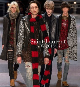 saint laurent mens 2013/14